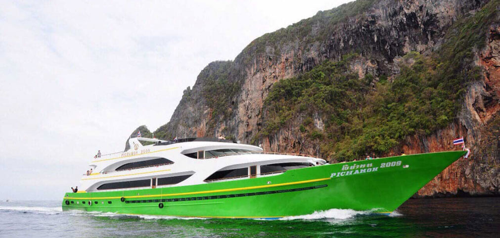 Destinations of our boats including Phuket, Lanta, Krabi and secluded islands in Thailand reachable by ferry only.
