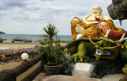 Statute of Happy Buddha in Hua Hin