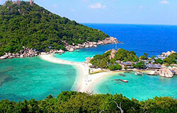 View of Koh Tao in Thailand.