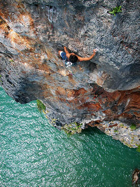 Rock climbing on Railay Island